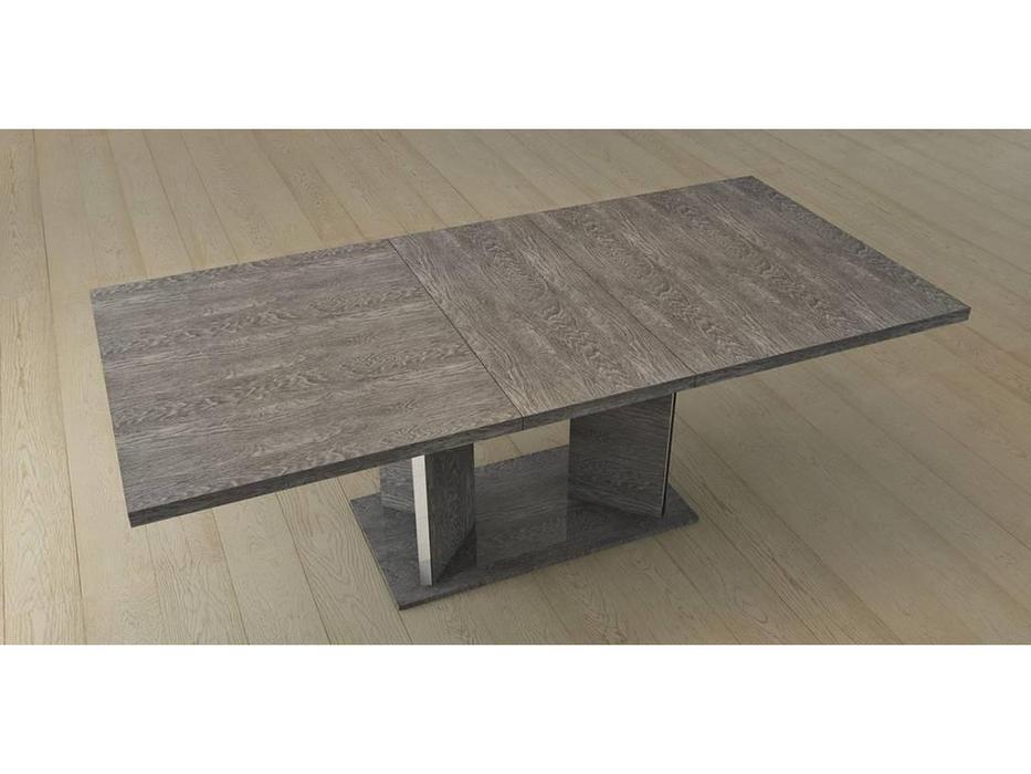 Status: Sarah: стол обеденный раскладной с 1-й вставкой  (серый)