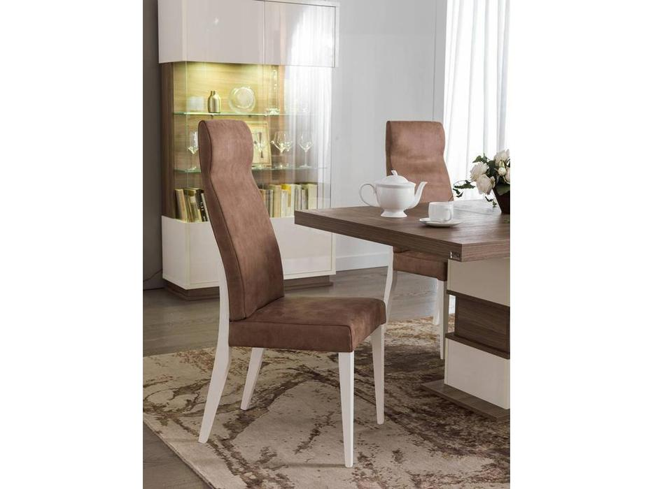 Status: Evolution: стул  (Ivory & Wood) ткань MICROFIBRA CAMEL