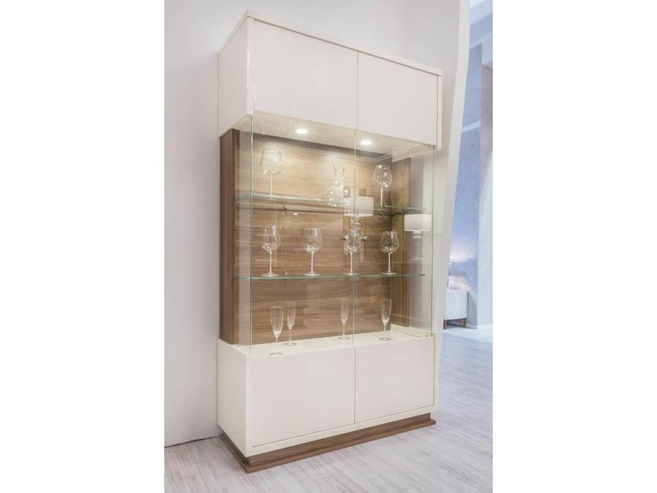 Status: Evolution: витрина 2-х дверная  (Ivory & Wood)