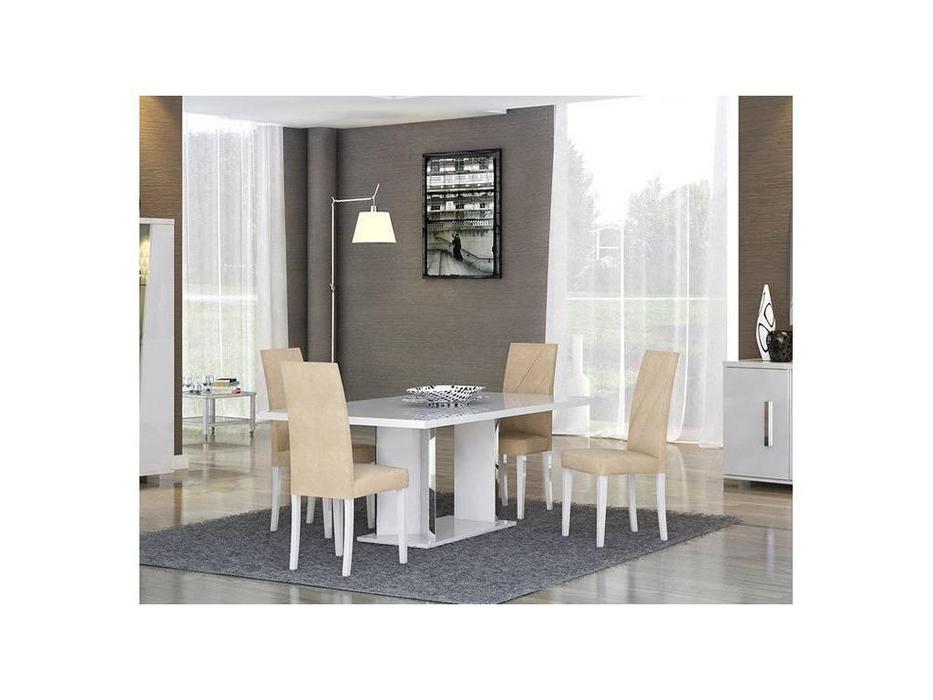 Status: Lisa: стол обеденный раскладной  (белый)