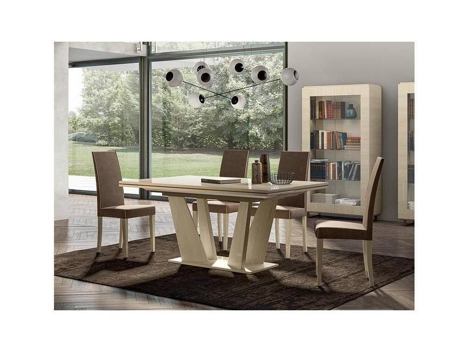 Status: Perla White: стол обеденный  (белый дуб)