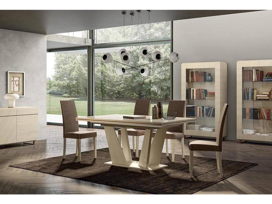 Status: Perla White: стол обеденный  раскладной (белый дуб)