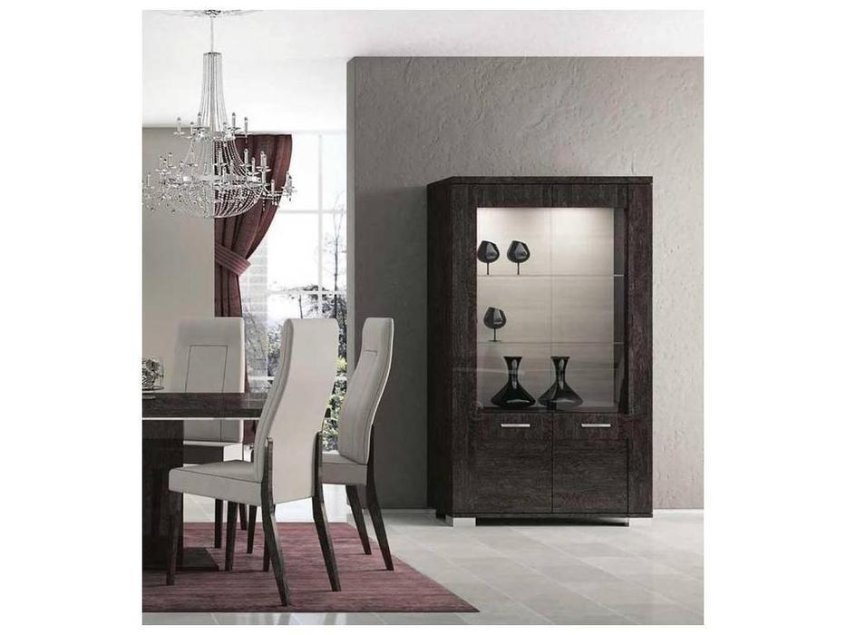 Status: Prestige Modern: витрина 2-х дверная  (американский орех)