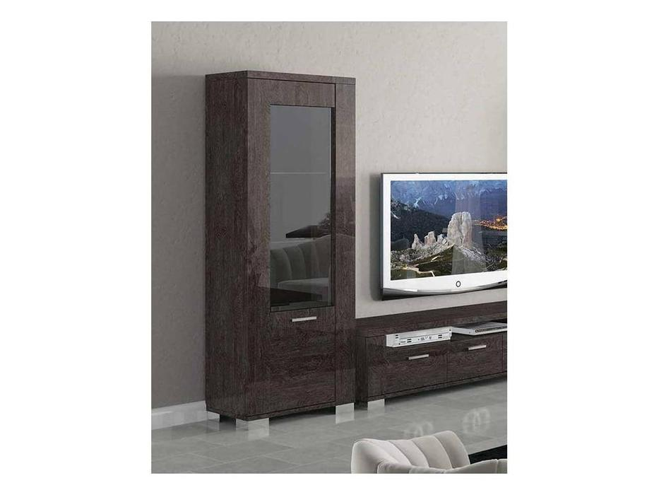 Status: Prestige Modern: витрина 1 дверная  с подсветкой (американский орех)