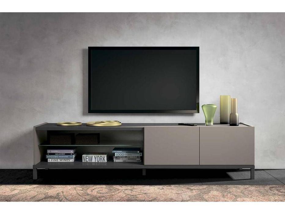 Status: Kali: тумба под телевизор  4D открытая (серый, беж)