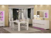 Status: Elegance: стол обеденный  (белый)