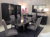 Status: Sarah: стол обеденный раскладной с 2-мя вставками  (серый)