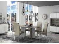 Status: Treviso: стол обеденный  (белый лак, цемент)