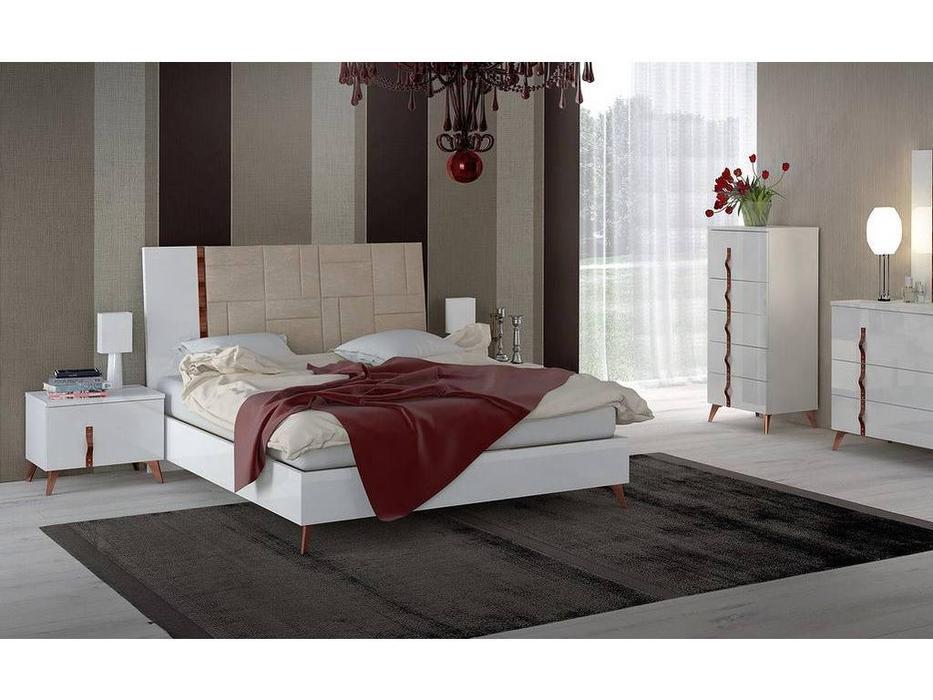 Status: Sirio White: кровать  160х203 люкс (белый)