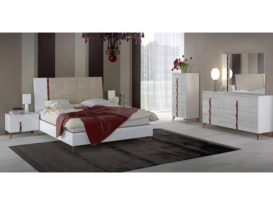 Status: Sirio White: кровать  198х203 без мягкой вставки (белый)