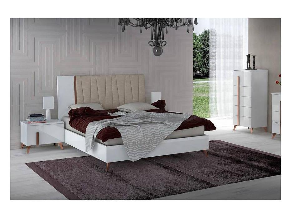 Status: Vega White: кровать  160x203 люкс (белый)