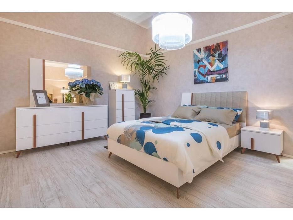 Status: Vega White: кровать  198x203 без мягкой вставки (белый)