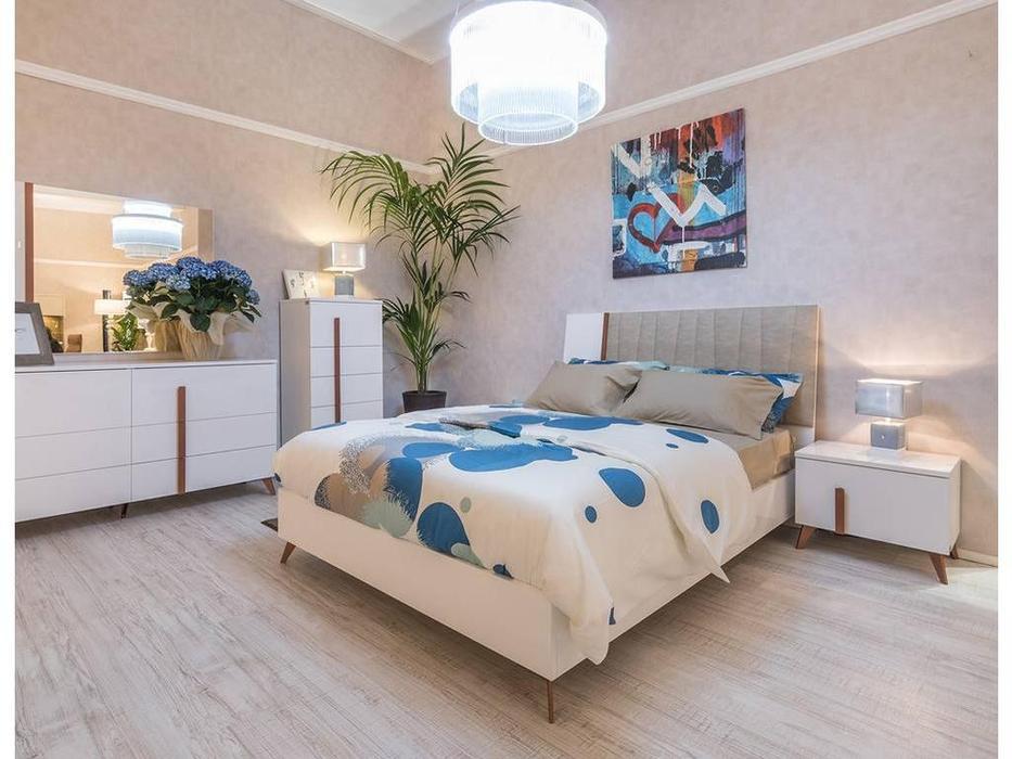 Status: Vega White: кровать  160x203 без мягкой вставки (белый)