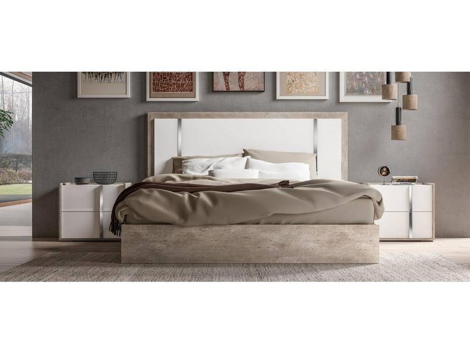 Status: Treviso: кровать 198х203  (белый, серый)