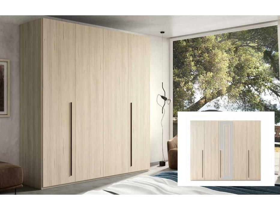 Status: Perla: шкаф 5-ти дверный  с зеркалом (беленый дуб)