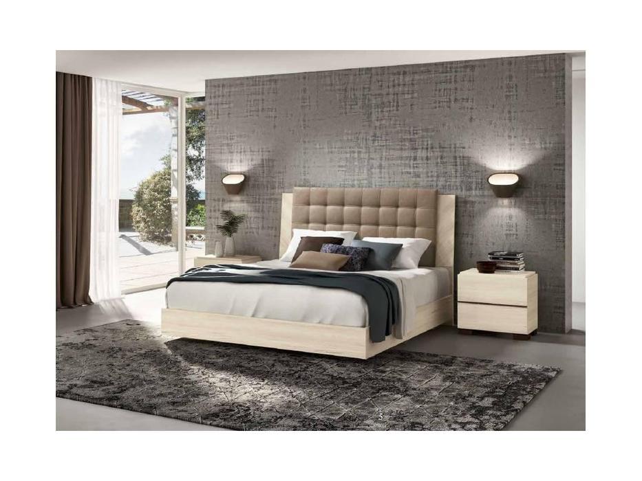 Status: Perla: кровать 180х200  с мягким изголовьем (беленый дуб)