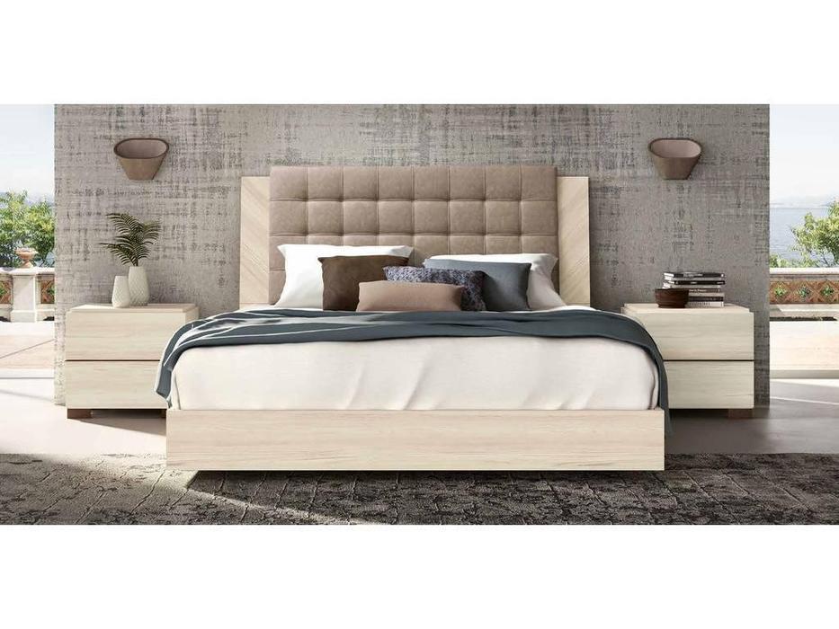 Status: Perla: кровать 160х200  с мягким изголовьем (беленый дуб)