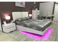 Status: Caprice: кровать 160х203  с мягким изголовьем (лак,белый)