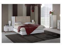 Status: Sirio White: кровать  198х203 люкс (белый)