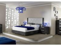 Status: Sarah: кровать 154х203  Rhombus с мягким изголовьем (серый)