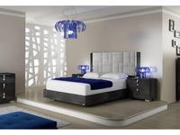 Status: Sarah: кровать 198х203  Geo с мягким изголовьем (серый)