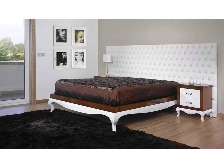 Arteal: Matura: кровать 160х200  (капитоне, белый,орех)