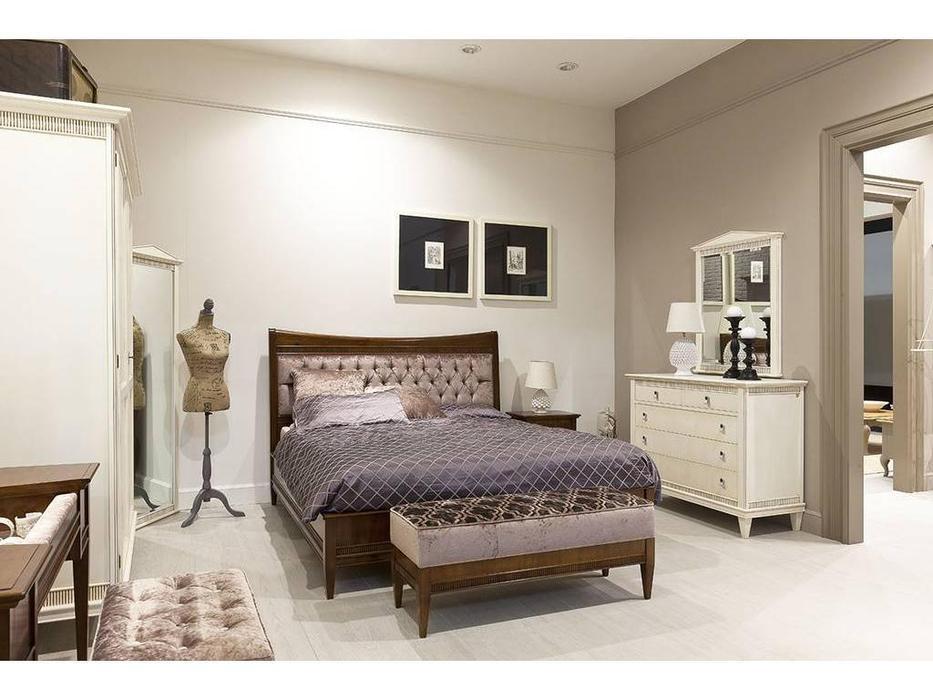 Tosato: Desideri: кровать 180х200  с набивным изголовьем (орех античный)