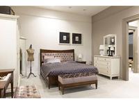 Tosato: Desideri: кровать 160х200 с набивным изголовьем  (орех)
