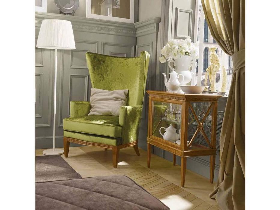 Tosato: Desideri: кресло на ножках  (орех, ткань зеленый)