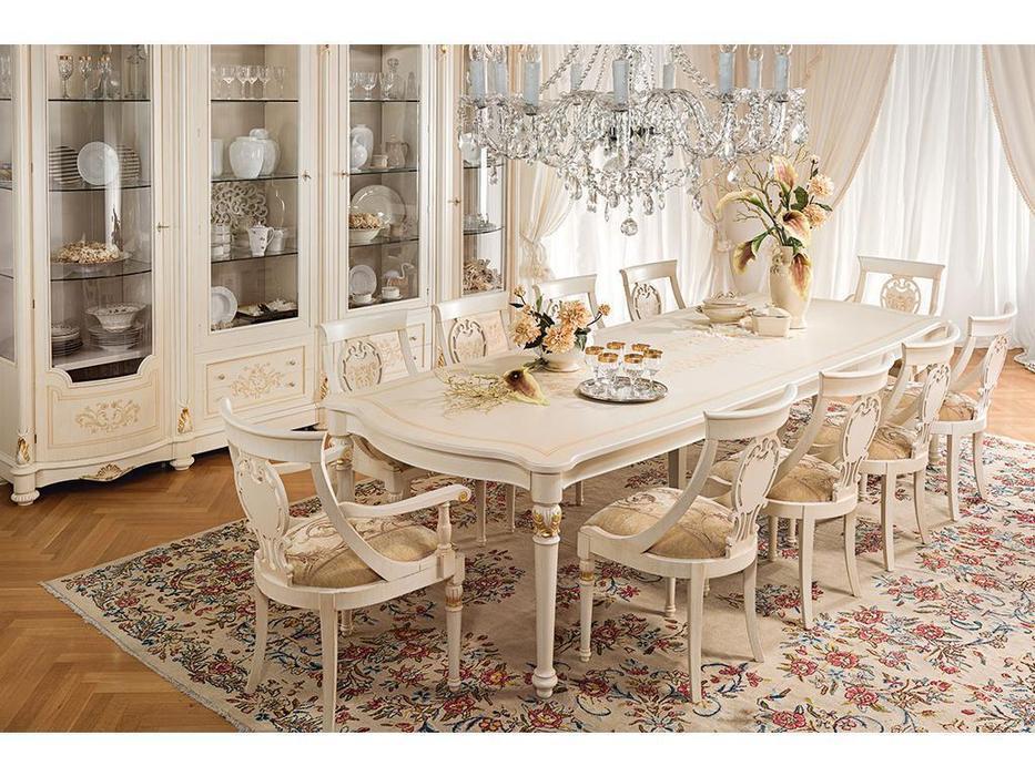 Antonelli Moravio: Pitti: стол обеденный раскладной  (белый, золото)