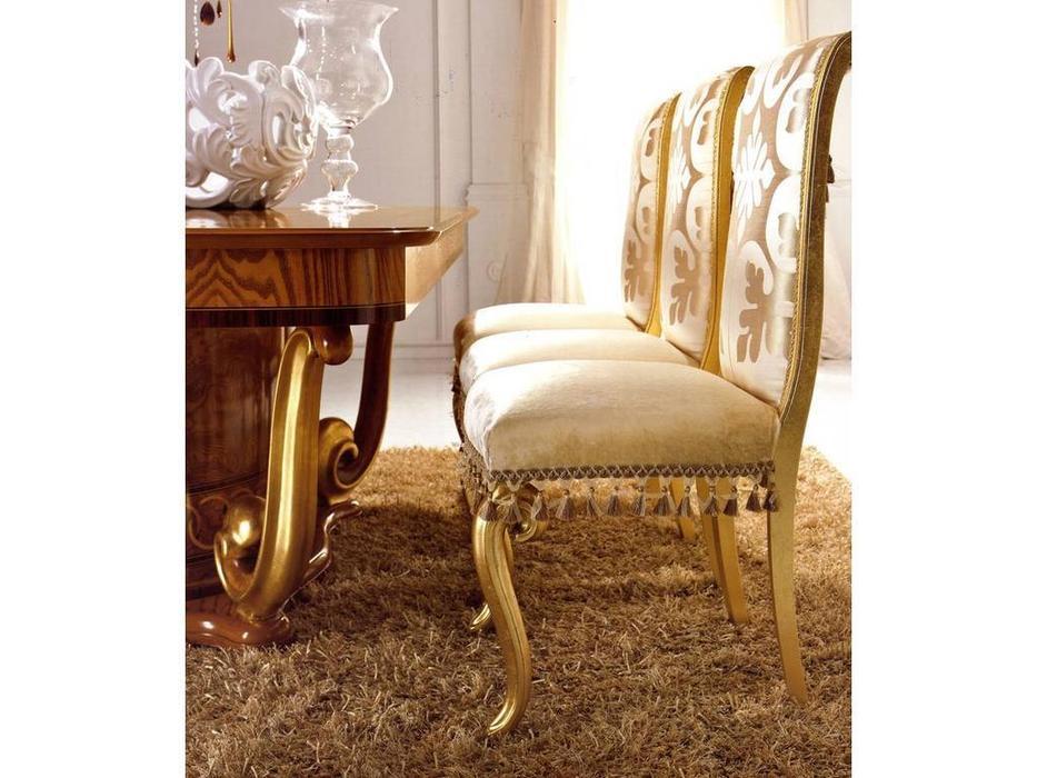 Valderamobili: Jasmine: стул  (позолота, ткань)