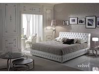 Piermaria: Velvet: кровать 180х200  (белый)