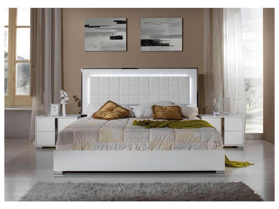 H2O: San Marino: кровать 160х200 с подсветкой (white)
