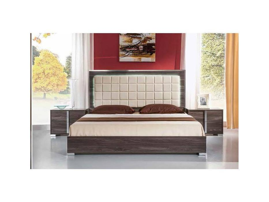 H2O: San Marino: кровать 160х200 с подсветкой (grey)
