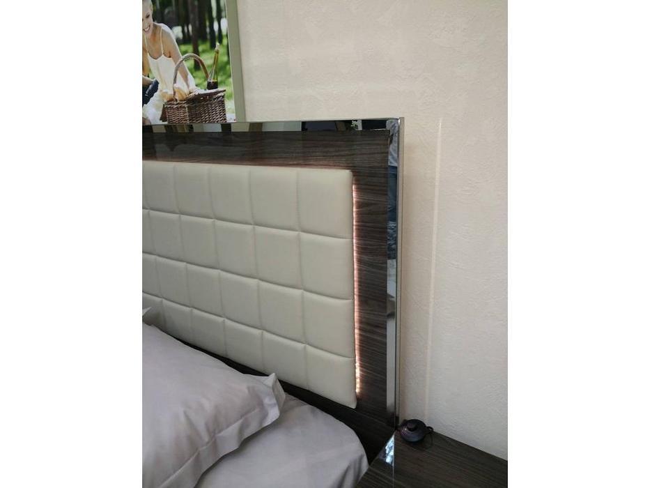 H2O: San Marino: кровать 180х200 с подсветкой (grey)