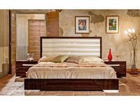 H2O: Romano: кровать двуспальная 197х208 (185х200) (ebony)