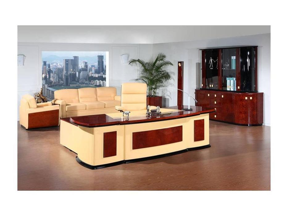 PEGASO: Romano: стол письменный (орех, беж)