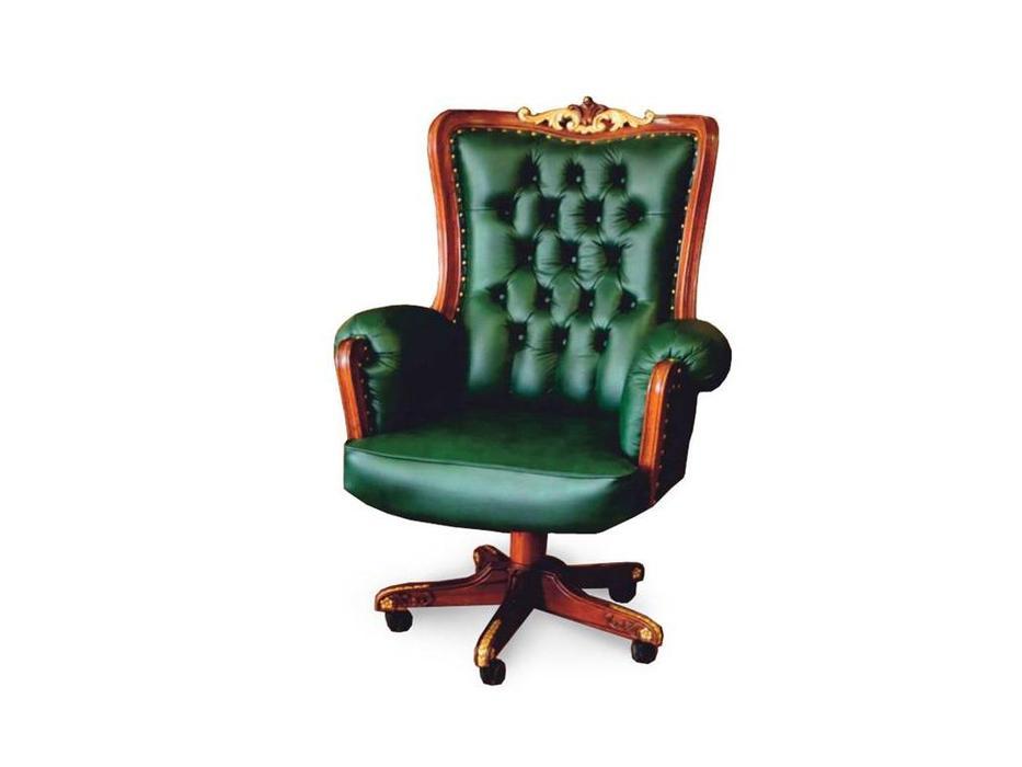 Perfect furniture: Mahogany: кресло вращающееся  (кожа)