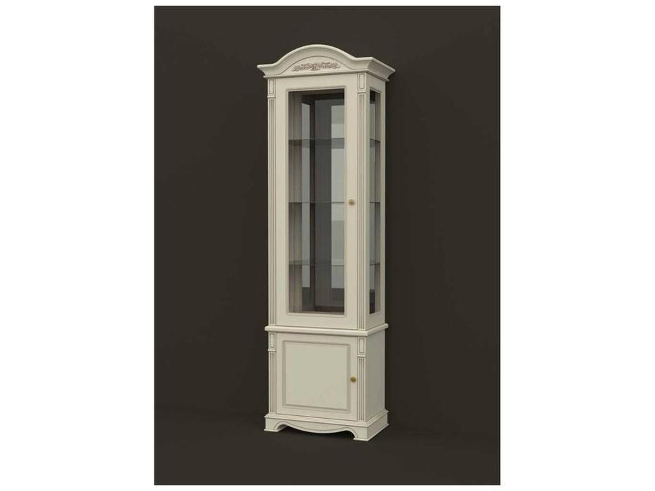 Arco: Esperansa: витрина 1 дверная  левая (белый, патина- коричневая)
