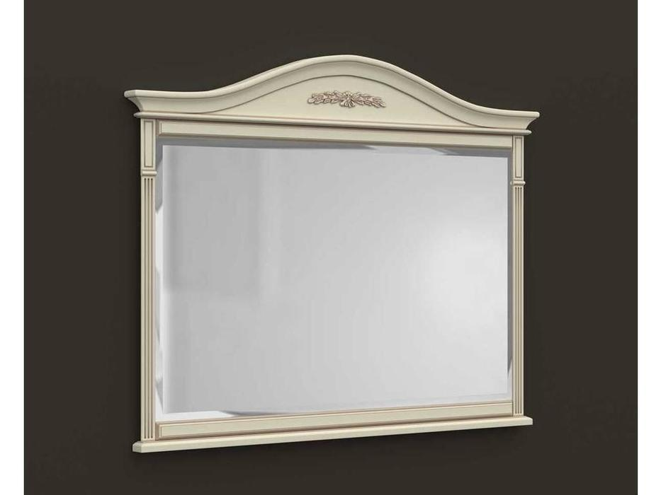 Arco: Esperansa: зеркало настенное  (белый, патина- коричневая)
