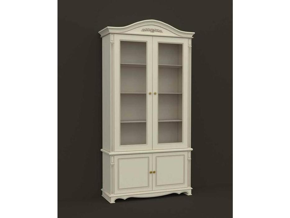 Arco: Esperansa: шкаф книжный  2 дв. (белый, патина- коричневая)