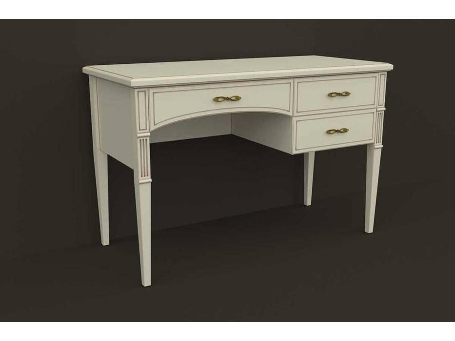 Arco: Esperansa: стол письменный  3 ящ. (белый, патина- коричневая)