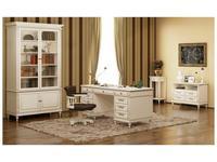 Arco: Decor Alt: кабинет домашний (белый, патина- коричневая)