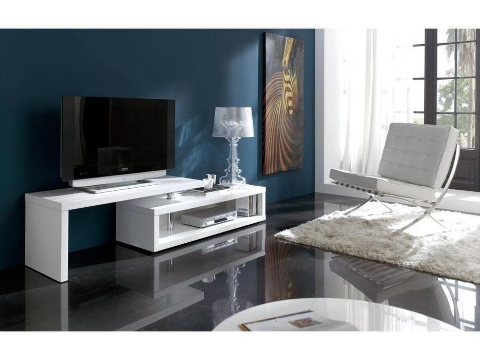 Dupen: Cinderella: тумба под телевизор  (белый глянец)