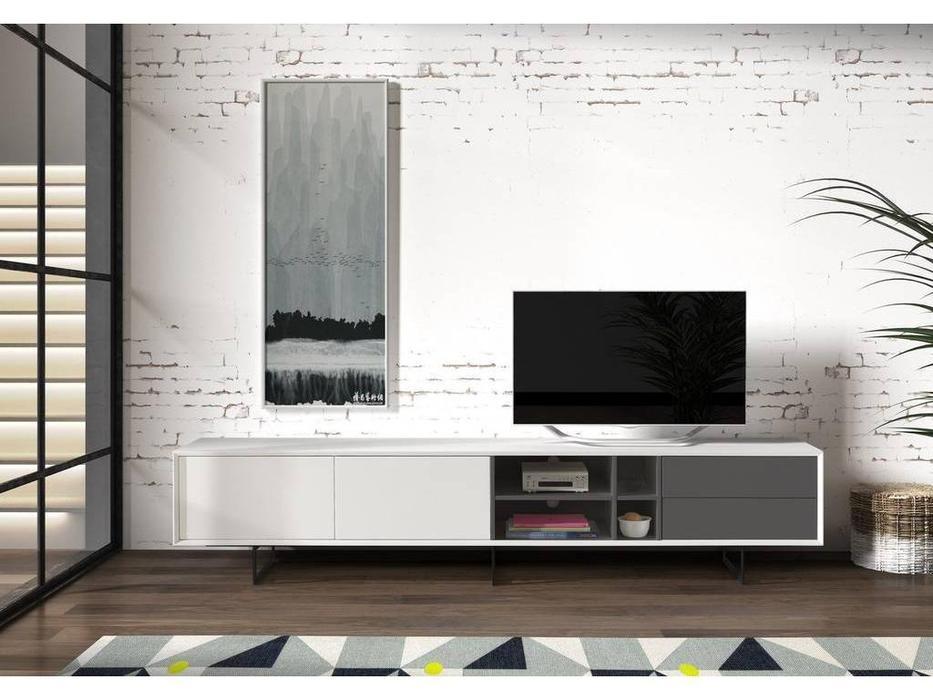 Dupen: тумба под телевизор  (белый, серый)