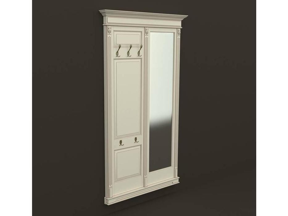 Arco: Classica Prestige: вешалка  - панель с зеркалом (беж, коричневая патина)