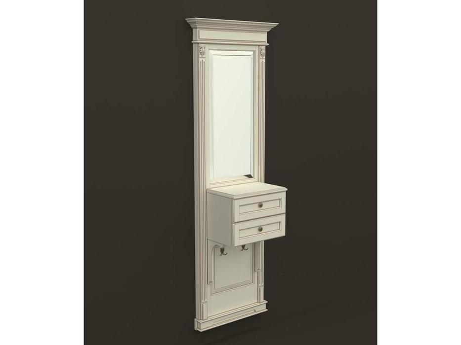 Arco: Classica Prestige: панель - зеркало с консолью  (беж, коричневая патина)