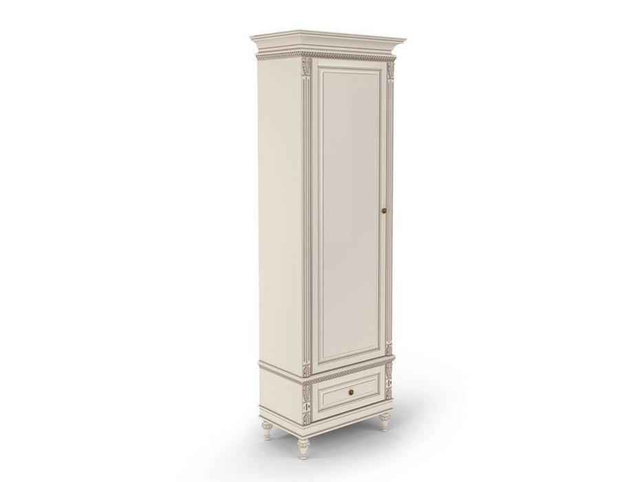 Arco: Decor Alt: шкаф 1 дверный  (белый, патина)