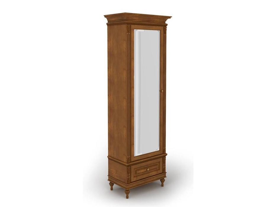 Arco: Decor Alt: шкаф 1 дверный  с зеркалом (орех, патина)