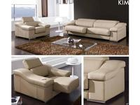 Gamamobel: Kim: диван 3-м  (кожа Luxe)